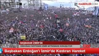 Erdoğan'ı kızdıran hareket Ak Parti İzmir Mitingi 16.03.2014