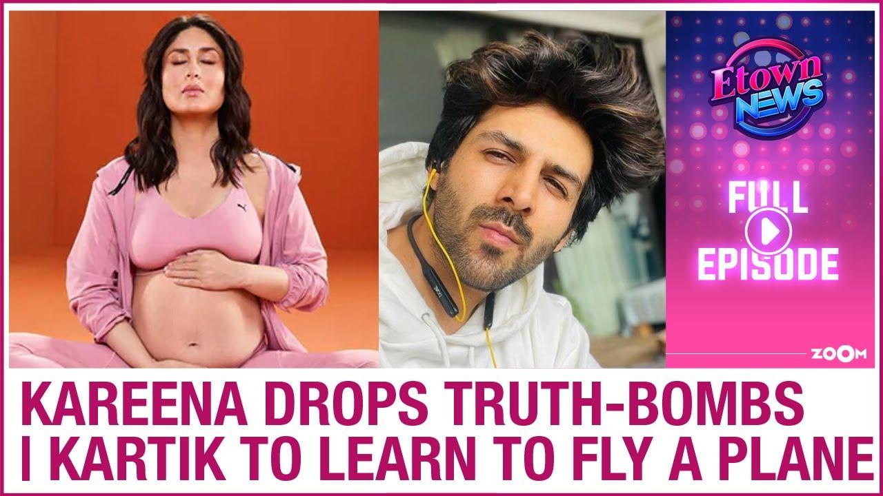 Kareena's pregnancy revelations | Kartik to learn to fly plane for Captain India | E-Town News Full