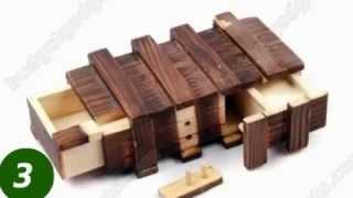 Compartment Wooden Secret Magic Puzzle Box 4597