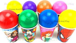 Cups and Balls Surprise Toys with Disney Cars Minnie Mouse Minions and Masha by Come and Play