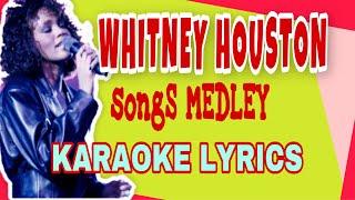 Whitney houston songs medley - (arranged by tonisantosjr) karaoke lyrics