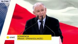 Kaczyński na konwencji PiS: 500 zł na 1. dziecko | OnetNews