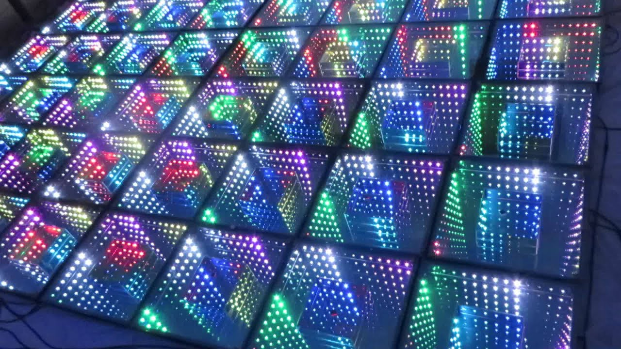 timmer tunnel 3d stage led dance floor youtube