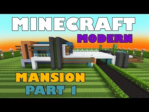how to build modern mansion minecraft
