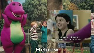 Barney & Friends I Love You Multilanguage Comparison