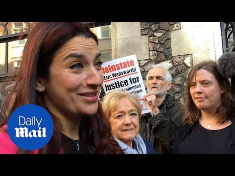 Labour MP Luciana Berger at court ahead of anti-semitism hearing - Daily Mail