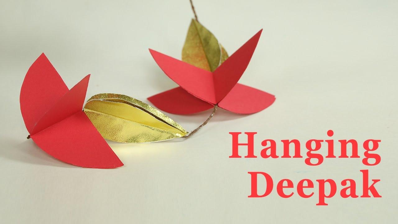 How To Make Door Hangings For Diwali Deepak Design Paper