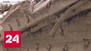 На берег Онежского озера выбросило старинный корабль - Россия 24