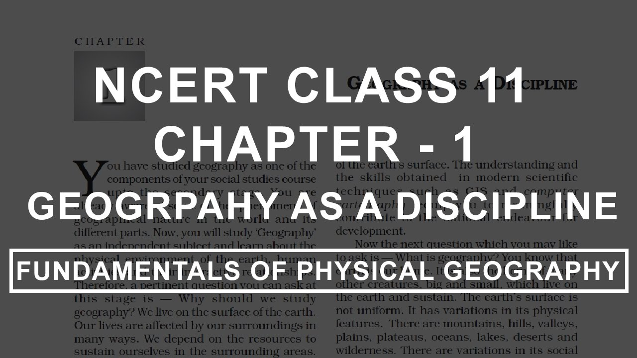 Ncert Geography Book Class 11 In English