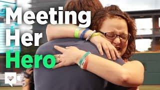 Cancer survivor meets her hero