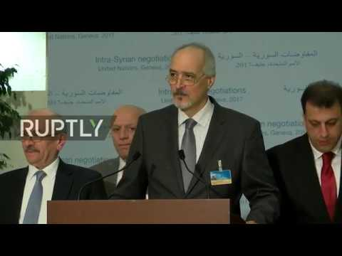 LIVE: Syria peace talks in Geneva: stake out by Jaafari