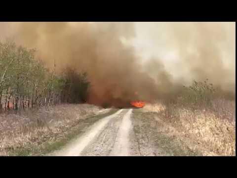 Fire near Langruth, MB