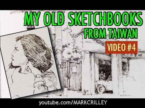 My Old Sketchbooks from Taiwan: The Way I Drew Back Then [VID 4]