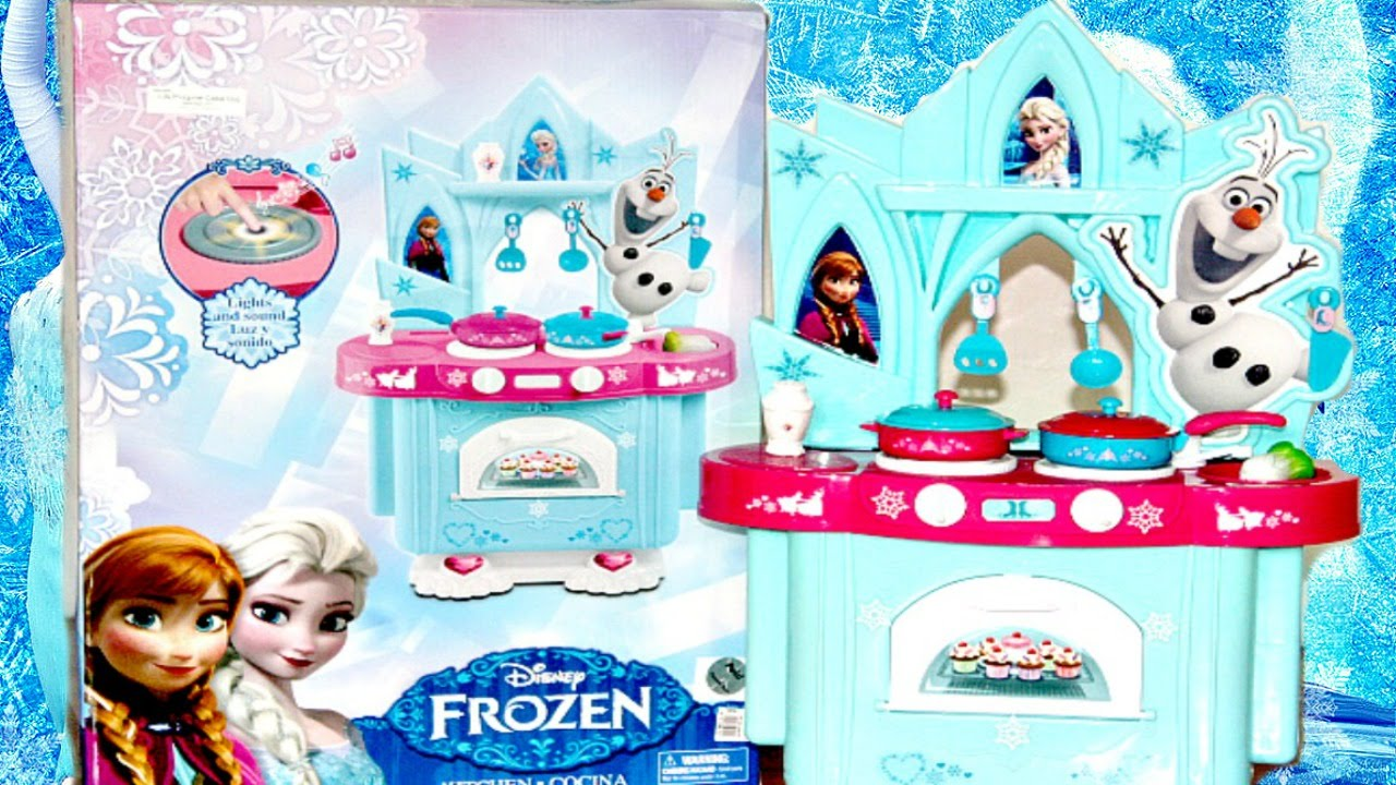 New Disney Frozen 2016 Kitchen Playset with Sounds and Light Tent ...