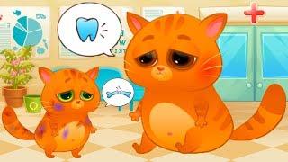 КОТЕНОК БУБУ #81 / ПАПА и Котик заболели. Лечим котов / Прключение папы и сына в больнице #пурумчата