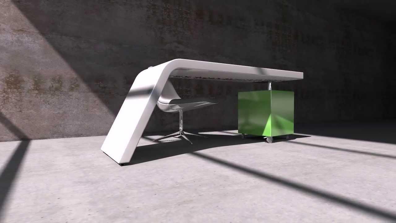 Mueble moderno laqueado escritorio modern furniture design - Mueble escritorio moderno ...