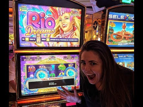 MASSIVE $18,000 HAND PAY JACKPOT | BIGGEST PAYOUT | HIGH LIMIT SLOTS | RIO DREAMS KONAMI