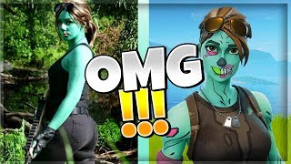 🔞FORTNITE - TOP10 OF SKIN IN THE REAL LIFE!👅