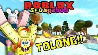 SPONGEBOB AND PATRICK HOLIDAYS AND GET STUCK ON THE ISLAND!! 🏝️🤣-ROBLOX Spongebob United Kingdom