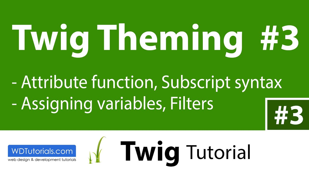 Twig - How To Use Filters And Assign Variables (3/6) - YouTube