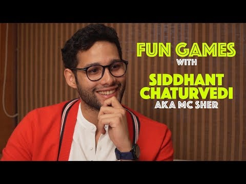 Siddhant Chaturvedi aka MC Sher plays fun games | Gully Boy | CineBlitz