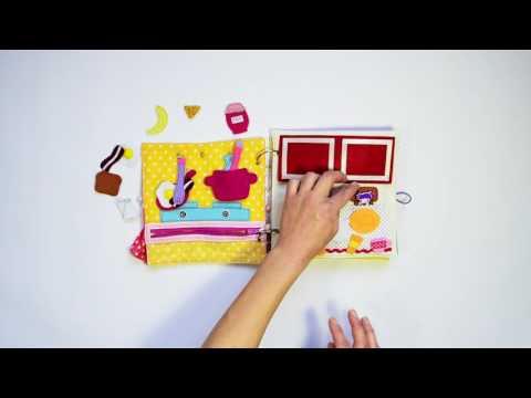 """Детска книжка от текстил - """"Моята къща"""" / Children's activity quiet book from fabric - My home"""