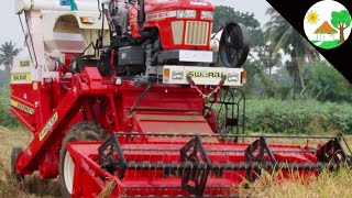 India's first time launch SWARAJ 963 FE tractor HARVESTER my village / India's no1 tractor harvester