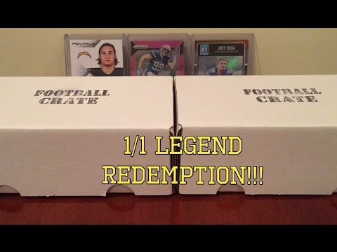 The Football Card Crate March Box - I Got Two (2) of Them for Double the Fun!!!!! KABOOM!!!