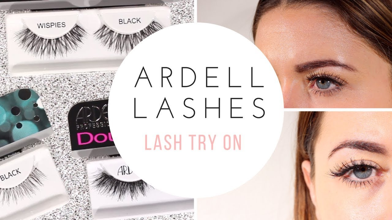 b3081ba576d ARDELL LASHES TRY ON / BEST SELLING STYLES - YouTube