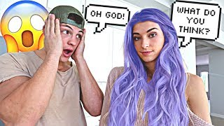 my-fiance-reacts-to-my-new-hair-cute-reaction