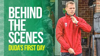 Behind The Scenes of Duda's First Day at Norwich City FC