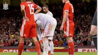 Así vivió Paco Alcácer el choque de España ante Gales en Cardiff