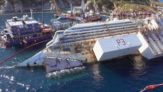 Cleaning Up Costa Concordia's 180,000-Ton Ruins