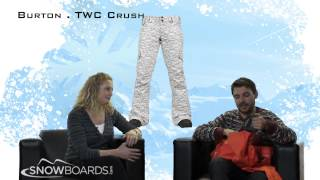 2014 Burton TWC Crush Womens Pant Overview by SnowboardsDOTcom