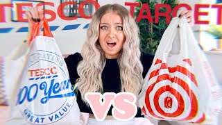 £100 SHOPPING CHALLENGE! TARGET VS TESCO!!