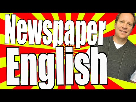 Learn Real English From A Newspaper
