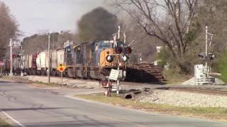 CSXT G962-13 SD70MAC/SD70AC/C40-9W Notch 8 Locomotives sounding good too