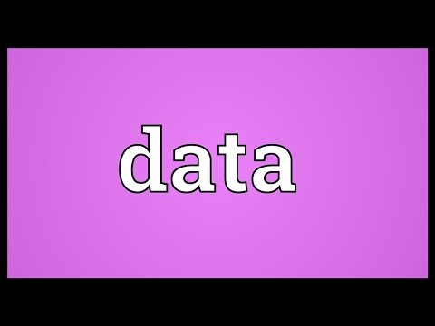 Data Meaning