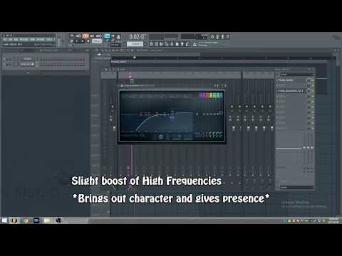 FL Studio Tutorial - Processing Vocals (EQ, Compression, De-essing and Effects)