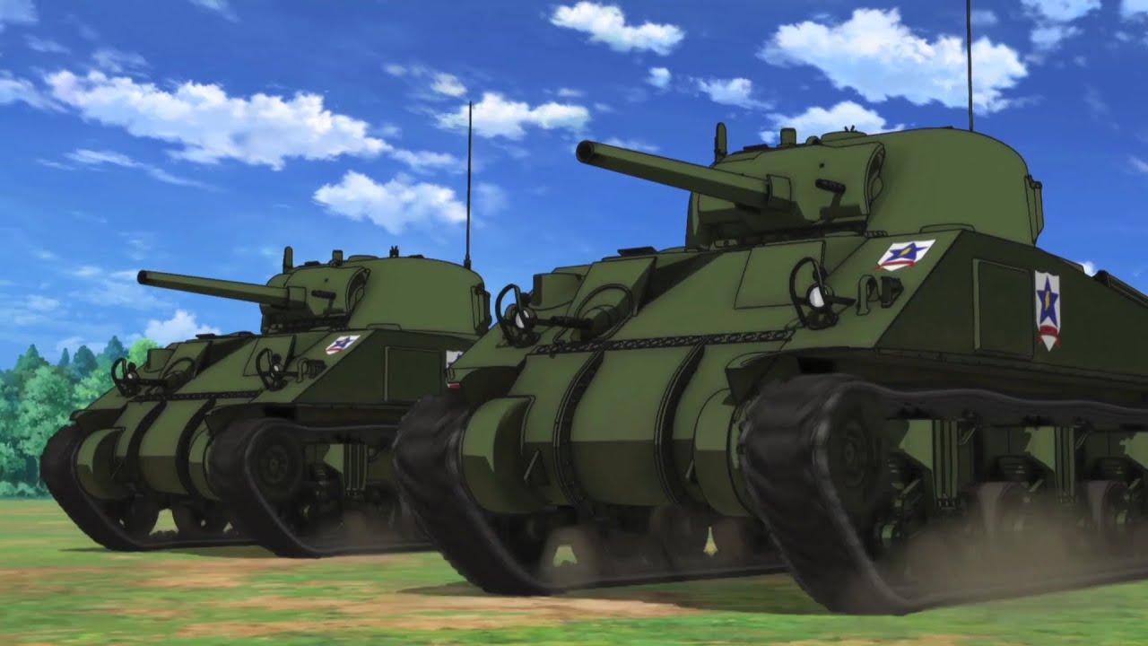 Usa Anime Gun Girl Wallpaper 1920x1080 Saunders Tribute M4 Sherman Go Go Youtube
