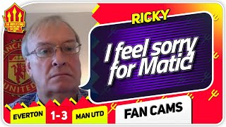RICKY! CAN'T KNOCK BRUNO! Everton 1-3 Manchester United Fan Cam
