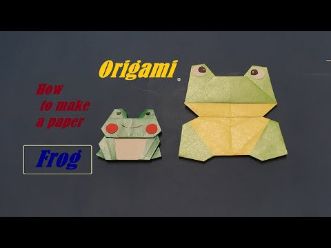 Origami , how to make a paper Frog TOYS DIY