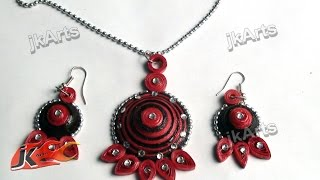 DIY Paper Quilling Jewelry Set |  How to make | JK Arts 369