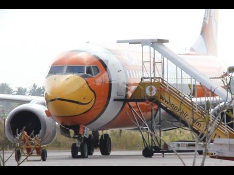 นกแอร์กระจกร้าวขณะลงจอดสนามบินนครศรีฯ