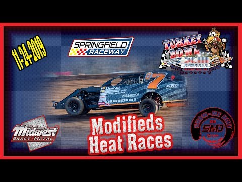 Modifieds Heat Races - Turkey Bowl Xlll Springfield Raceway 11-24-2019