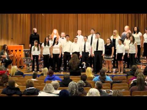 "Hoopeston Area Middle School Chorus performs ""Somewhere Over the Rainbow"""