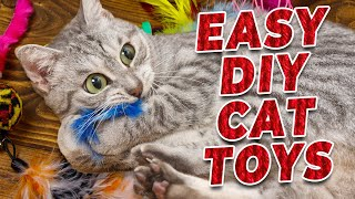How To Make DIY Cat Toys! (Super Easy)