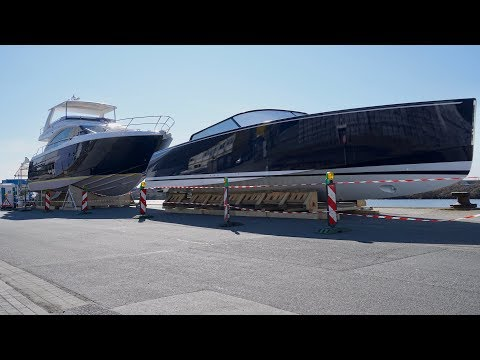 4K | Tenders & Boats of Mega Yacht Project U116 - Kleven Shipyard