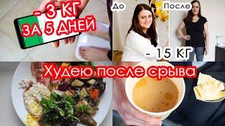 Похудела После Срыва Мое Меню для похудения Интервальное голодание Начинаю Дневник похудения
