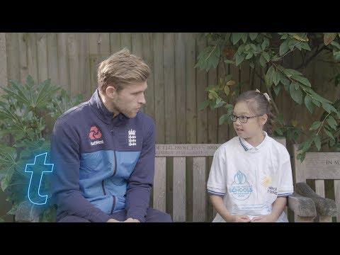 Minimaster Gracie interviews cricketer David Willey   Ticketmaster UK